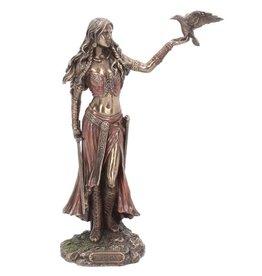 Nemesis Now Morrigan and Crow bronzed figurine 28cm