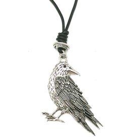 Trukado Crow necklace - nickel-free, leather cord
