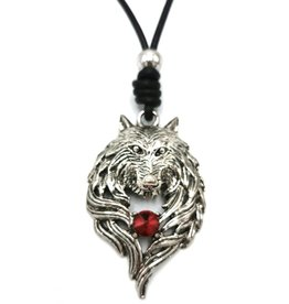 Trukado Necklace Wolf - Wolf's head nickel-free, leather cord