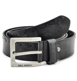 HillBurry Leather belt HillBurry - black, solid leather
