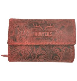 Hunters Leather wallet Hunters vintage red