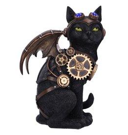 Nemesis Now Steampunk cat Feline Flight 22.7cm