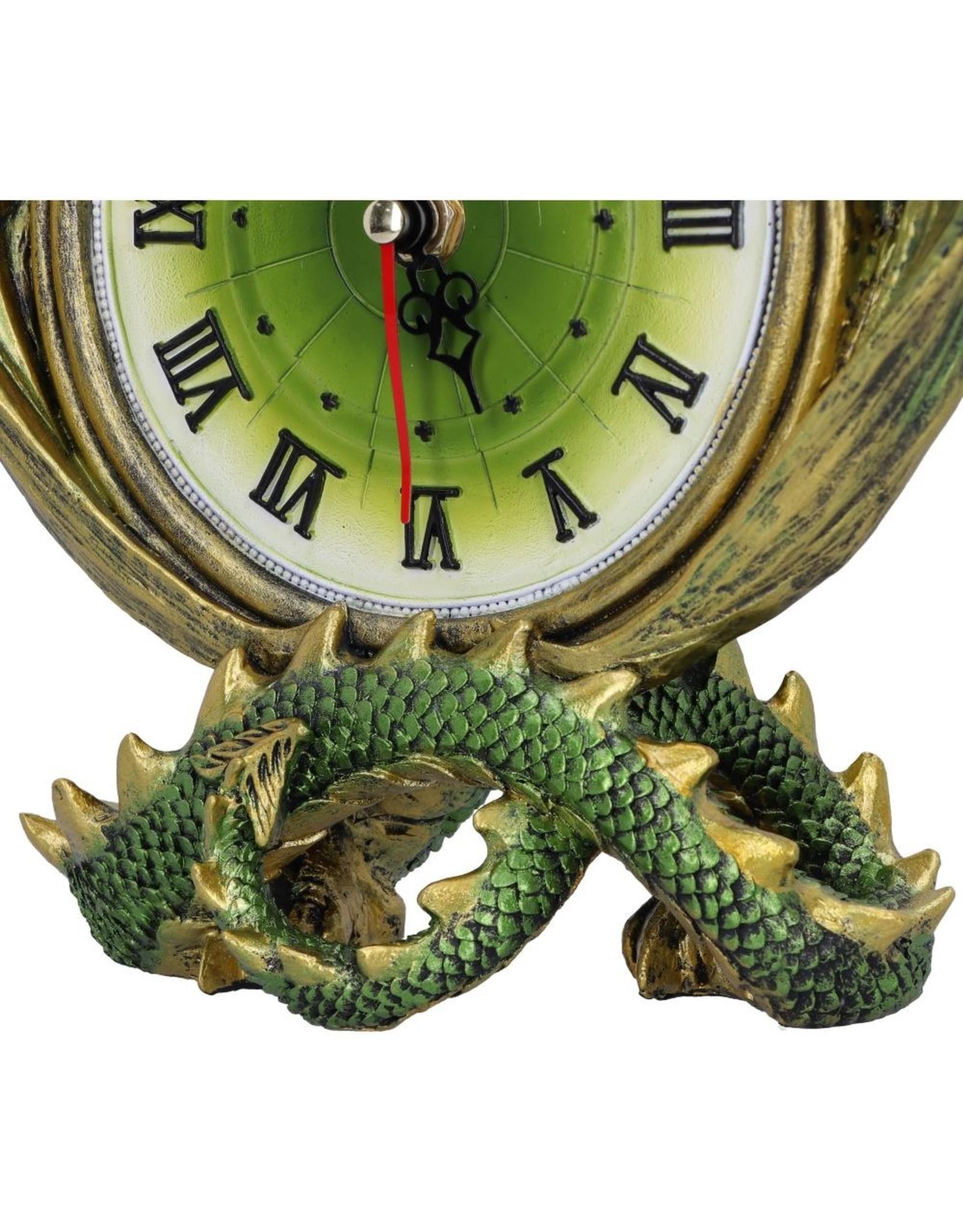 Nemesis Now Giftware Beelden Collectables  - Emerald Chronology draken klok