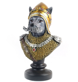 Trukado Dog Soldier Bust, hand painted - 23 cm