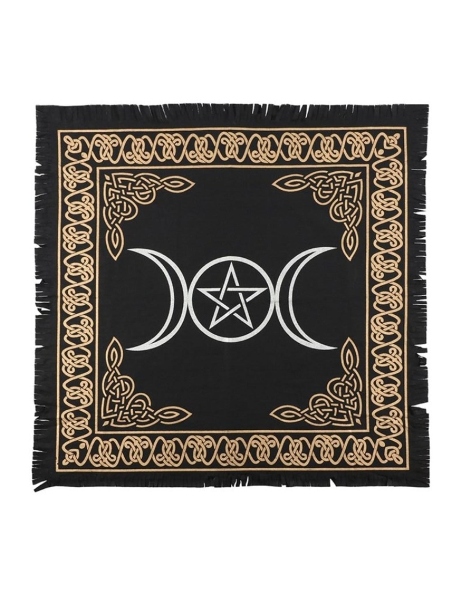 Trukado Miscellaneous -  Altaarkleed Drievoudige Maan Pentagram - 60 X 60cm