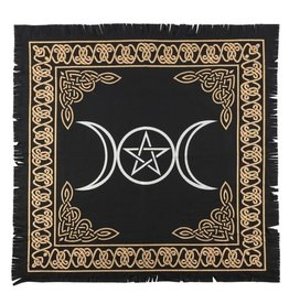 Trukado Altar Cloth Triple Moon Pentacle  - 60 X 60cm