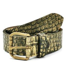 Hepco Leather Belt Crocodile Skin-look Design