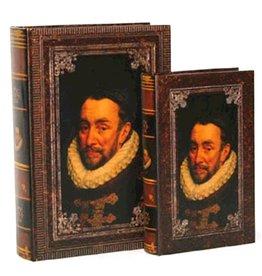 Trukado Opbergdoos Boek Willem van Nassau portret set 2st