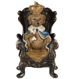 Trukado Spaarpot Hond-Koning op troon