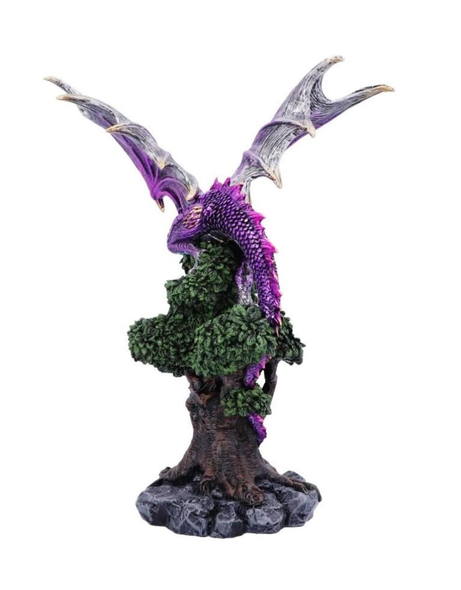 Willow Hall Giftware & Lifestyle - Baas van de Natuur Levensboom Paarse Draak beeld