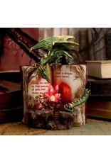 Alator Giftware & Lifestyle - Schatzoekers - Draak met Boek & Kristallen Beeldje - LED
