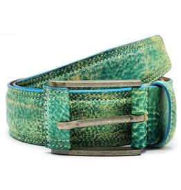 Hepco Leather belt Love & Peace vintage aqua