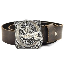 Acco Leather belt with buckle Centaur - Heavy quality