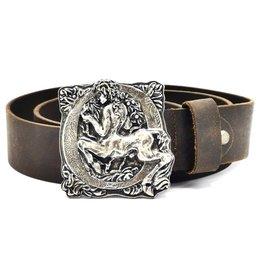 Acco Leren riem met buckle Centaur - Zware Kwaliteit