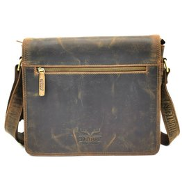 Hunters Hunters Messenger bag with cover Buffalo leather