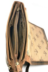 Hunters Leren werktassen en Leren laptoptassen - Hunters Messenger tas met omslag Buffelleer