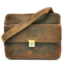 Hunters Hunters tablet bag - Crossbody bag Buffalo leather