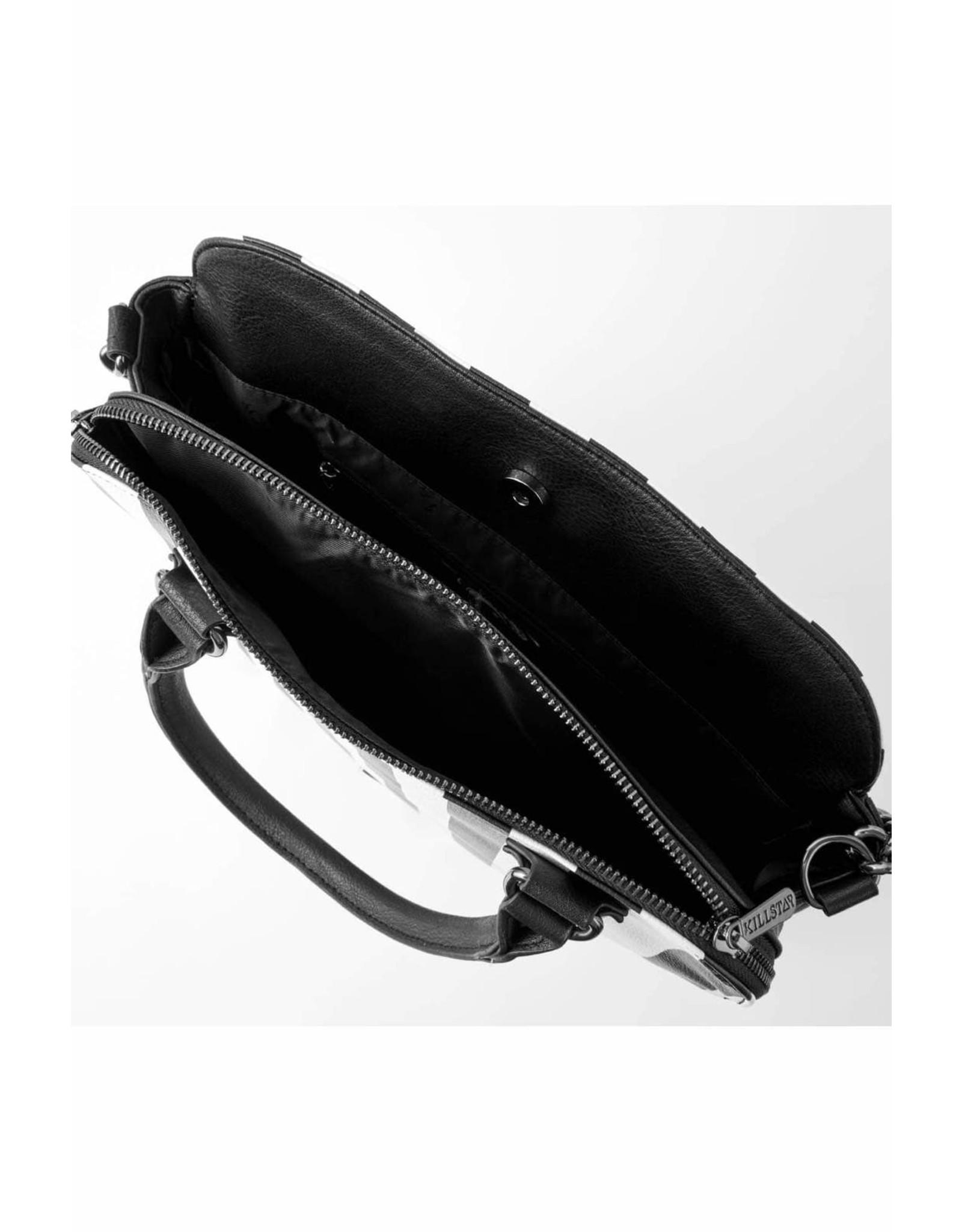 Killstar Killstar tassen en accessoires - Killstar Lines handtas met tablet vak