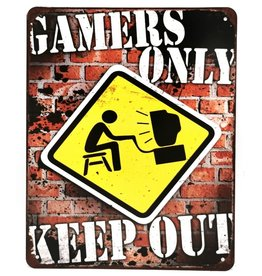 Trukado Gamers Only metalen bord