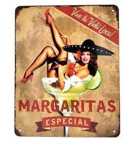 Trukado Margaritas Cocktail metalen bord