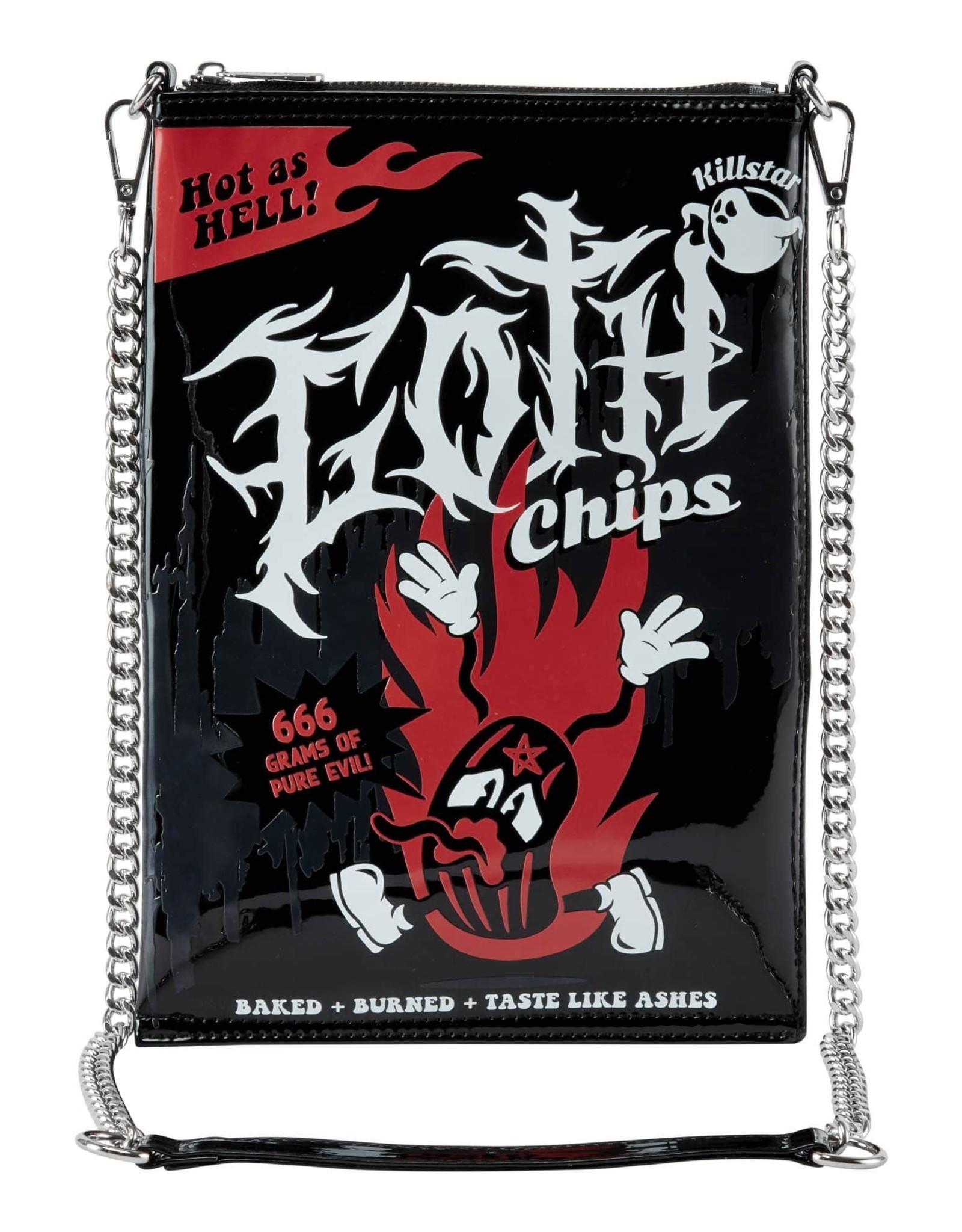 Killstar Killstar tassen en accessoires - Killstar Goth Chips handtas