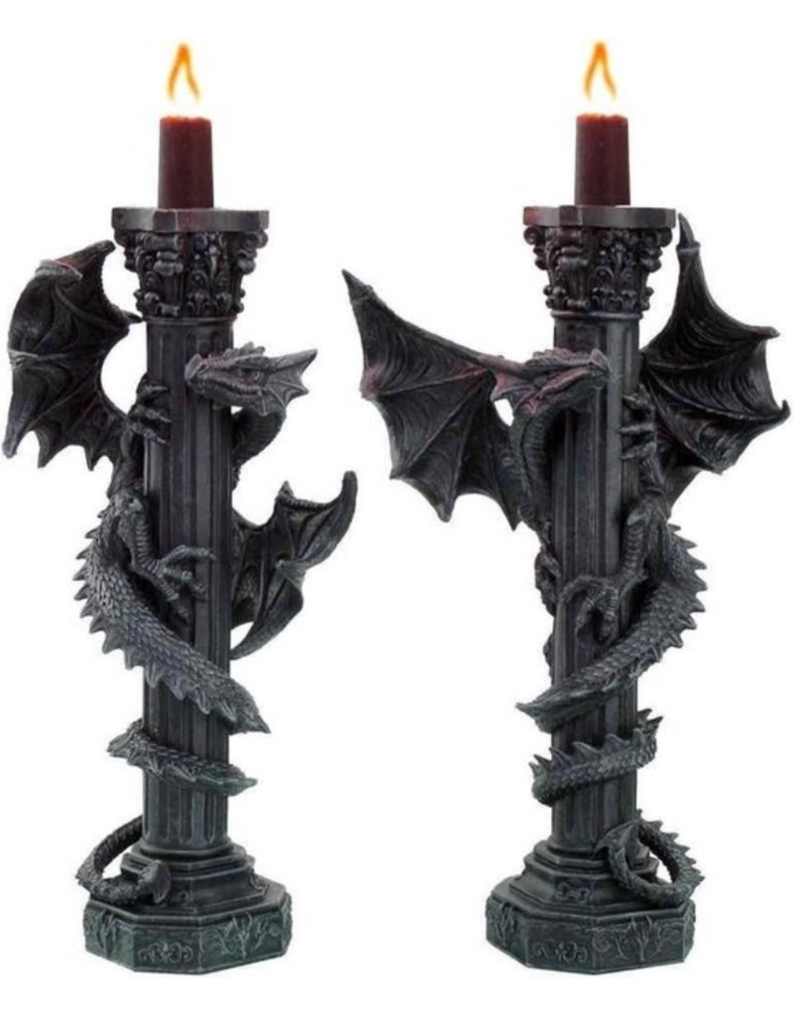 Nemesis Now Giftware & Lifestyle - Guardians of the Light Draken kandelaar set Nemesis Now