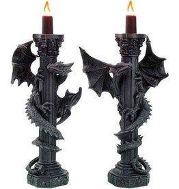 Nemesis Now Guardians of the Light Dragon Candleholder set of 2