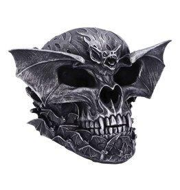 Spiral Dark Gothic Bat Skull Spiral 19cm
