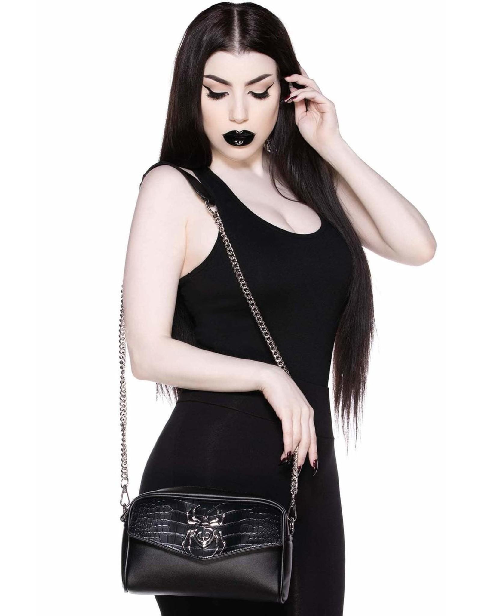 Killstar Killstar tassen en accessoires - Killstar crossbody tas Black Widow