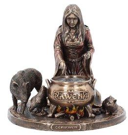 Veronese Design Welsh Goddess Ceridwen Figurine Bronzed 17cm