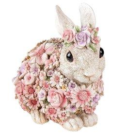 Trukado Rabbit Flower Power Flower Rabbit figurine
