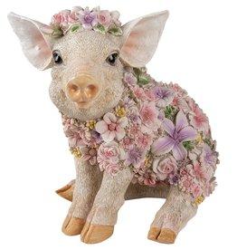 Trukado Flower Power Pig  - Flower Pig figurine