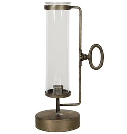 Trukado Candlestick with Glass Shade Industrial look