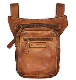 HillBurry HillBurry belt bag - leg bag washed leather brown  cognac