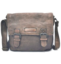 HillBurry HillBurry Leather School bag Washed Leather brown