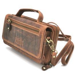 Hunter Hunters Leather Organizer bag cognac