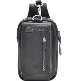 HillBurry Leather Belt Bag Black HillBurry