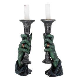 NemesisNow Light of Darkness Candle Holders 20cm
