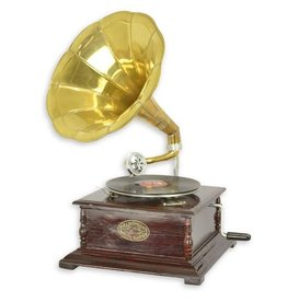 Gramophone company Gramophone - Old-fashioned record player with horn