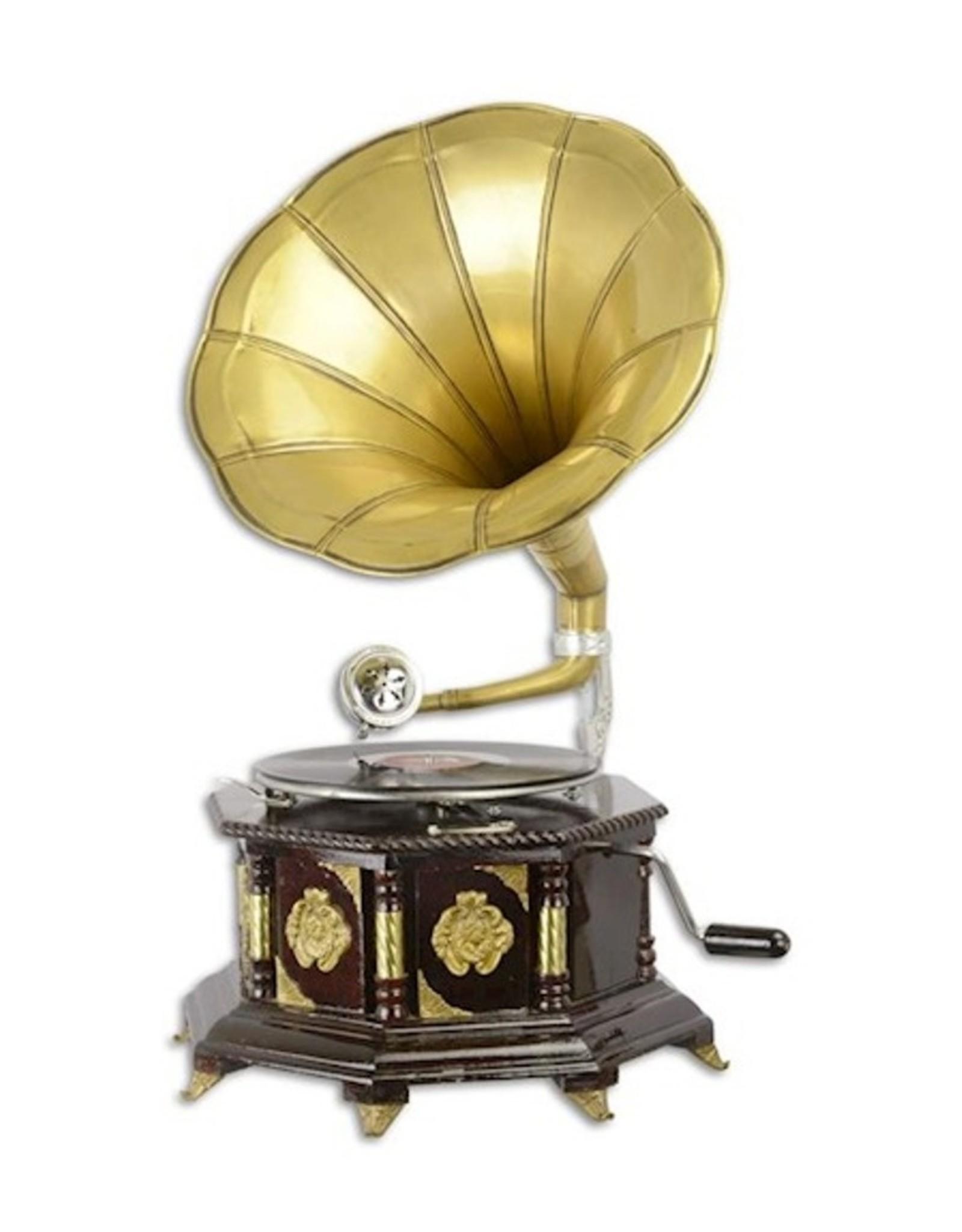 Gramophone company Miscellaneous - Grammofoon - Ouderwetse platenspeler met hoorn ACHTAGONAAL