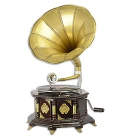 Gramophone company Gramophone - Old-fashioned record player with horn  OCTAGONAL