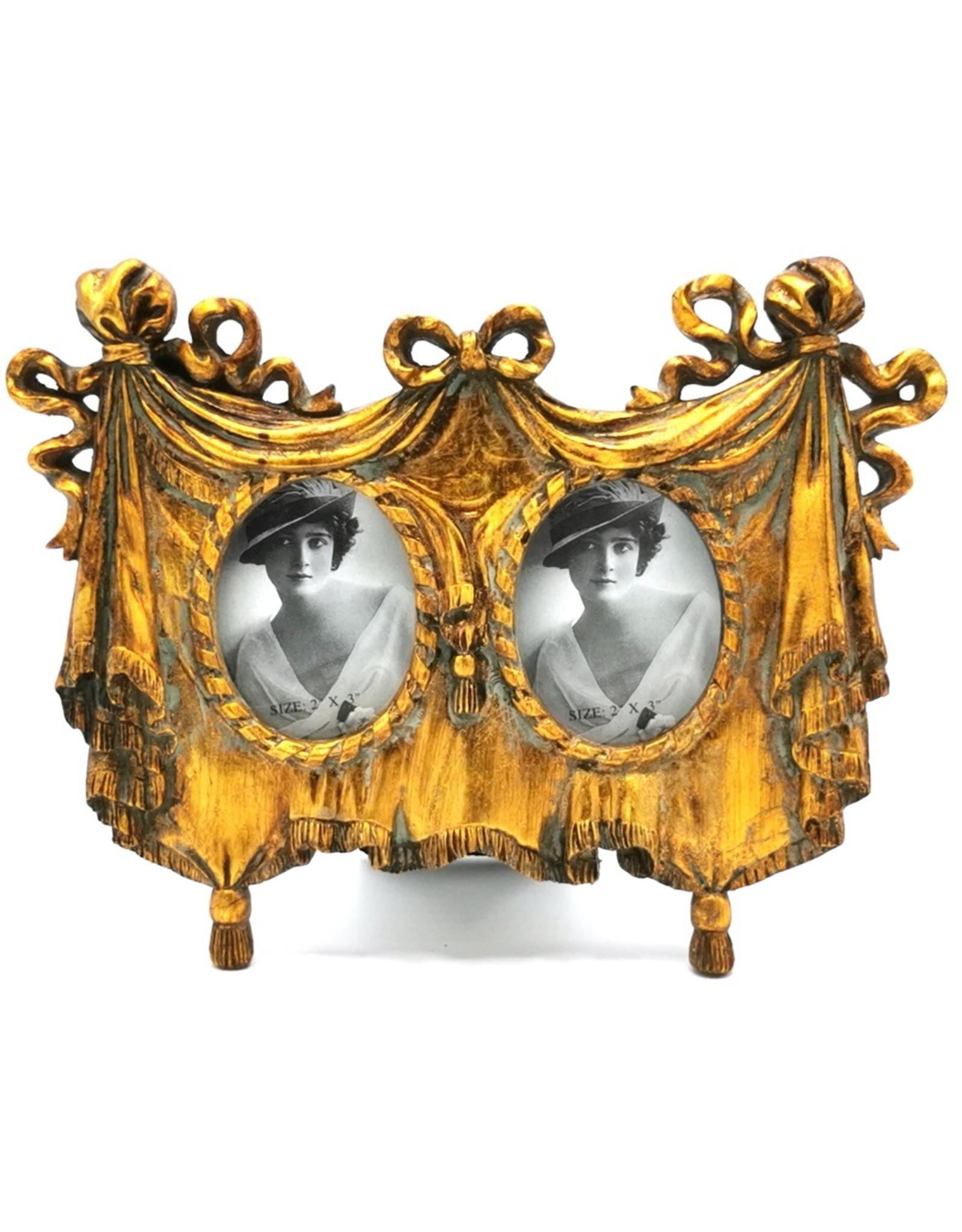Trukado Miscellaneous - Dubbele Fotolijst jaren '20 stijl goudkleurig