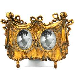 Trukado Dubbele Fotolijst jaren '20 stijl goudkleurig