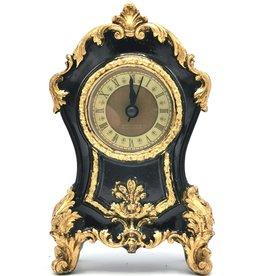 Trukado Tafelklok Barok stijl zwart-goud