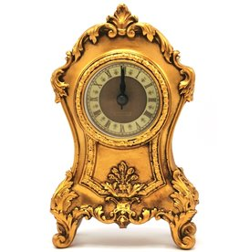 Trukado Tafelklok Barok stijl bronskleurig