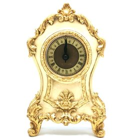Trukado Tafelklok Barok stijl creme-goud