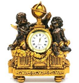 Trukado Tafelklok Barok stijl Cherubijnen bronskleurig