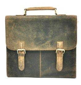 Trukado Vintage Schooltas buffelleer - 818B