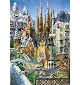 Educa Puzzle Gaudi Collage 1000 pcs