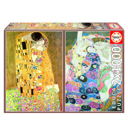 Educa Puzzel Gustav Klimt De kus en De Maagd 2x 1000 stukjes